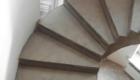 Деревянная лестница на бетонном основании лестница в дом Краснодар Крым