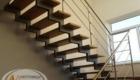 Лестница на металлокаркасе с деревянными ступенями Краснодар Крым