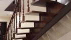 Деревянная лестница на металлокаркасе в дом Краснодар Крым