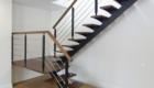 Лестница на металлокаркасе с деревянными ступенями в дом Краснодар Крым
