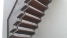 Лестница дерево на металлокаркасе в дом Краснодар Крым