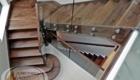Лестница со стеклом в частном доме Краснодар Крым