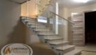 Металлическая лестница со стеклом Краснодар Крым