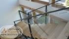 Лестница со стеклом на металлическом каркасе Краснодар Крым