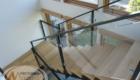 Деревянная лестница со стеклом Краснодар Крым