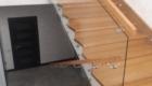 Ограждения лестниц со стеклом на второй этаж Крым Краснодар