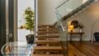 Перила со стеклом для лестниц изготовление лестниц в Крыму Краснодаре