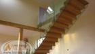 Лестница со стеклом в частном доме изготовление лестниц в Крыму Краснодаре