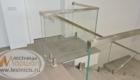 Лестницы на второй этаж со стеклом изготовление лестниц в Крыму Краснодаре