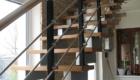 Монтаж лестницы на металлокаркасе в дом Краснодар Крым